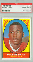 1967 Topps Football 44 Miller Farr Houston Oilers PSA 8 Near Mint to Mint