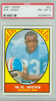 1967 Topps Football 50 WK Hicks