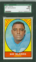 1967 Topps Football 51 Sid Blanks Houston Oilers SGC88 Near-Mint to Mint