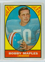 1967 Topps Football 53 Bobby Maples Houston Oilers Very Good to Excellent