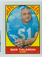 1967 Topps Football 54 Bob Talamini Houston Oilers Excellent