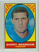 1967 Topps Football 57 Danny Brabham Houston Oilers Excellent to Excellent Plus