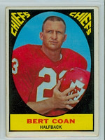 1967 Topps Football 63 Bert Coan Kansas City Chiefs Very Good to Excellent