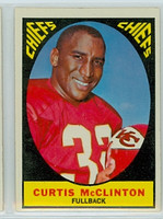 1967 Topps Football 64 Curtis McClinton Kansas City Chiefs Excellent to Mint