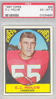 1967 Topps Football 66 EJ Holub Kansas City Chiefs PSA 6 Excellent to Mint