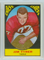 1967 Topps Football 68 Jim Tyrer Kansas City Chiefs Near-Mint