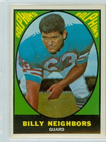 1967 Topps Football 84 Billy Neighbors Miami Dolphins Excellent to Excellent Plus