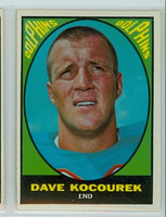 1967 Topps Football 88 Dave Kocourek Miami Dolphins Excellent