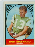 1967 Topps Football 97 Don Maynard New York Jets Excellent