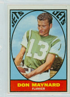 1967 Topps Football 97 Don Maynard New York Jets Excellent to Mint
