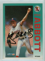 Kyle Abbott AUTOGRAPH 1992 Fleer Angels 