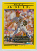 Darrel Akerfelds AUTOGRAPH d.12 1991 Fleer Phillies 