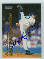 Matt Anderson AUTOGRAPH 1999 Fleer Tradition Tigers 