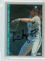 Luis Aquino AUTOGRAPH 1993 Fleer Marlins Final Edition 