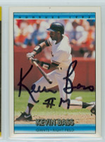 Kevin Bass AUTOGRAPH 1992 Donruss Giants 
