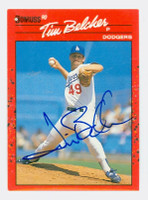 Tim Belcher AUTOGRAPH 1990 Donruss Dodgers 