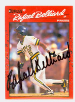 Rafael Belliard AUTOGRAPH 1990 Donruss Pirates 