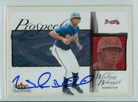 Wilson Betemit AUTOGRAPH 2002 Fleer Tradition PROSPECTS Braves 