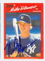 Mike Blowers AUTOGRAPH 1990 Donruss Yankees 