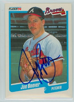 Joe Boever AUTOGRAPH 1990 Fleer Braves 