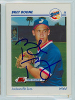 Bret Boone AUTOGRAPH Minor League Card Jacksonville 