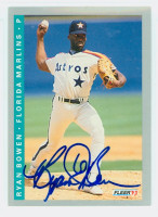 Ryan Bowen AUTOGRAPH 1993 Fleer Marlins 