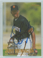 Jamie Brewington AUTOGRAPH 1996 Fleer Giants 