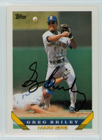 Greg Briley AUTOGRAPH 1993 Topps Mariners 