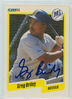 Greg Briley AUTOGRAPH 1990 Fleer Mariners 