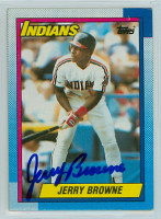 Jerry Browne AUTOGRAPH 1990 Topps Indians 