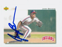 Jerry Browne AUTOGRAPH 1992 Upper Deck Indians 