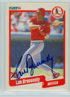 Tom Brunansky AUTOGRAPH 1990 Fleer Cardinals 