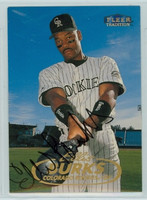 Ellis Burks AUTOGRAPH 1998 Fleer Tradition Rockies 