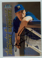 Jeromy Burnitz AUTOGRAPH 1999 Fleer Tradition Brewers 