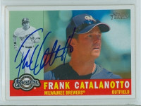 Frank Catalanotto AUTOGRAPH 2009 Topps Heritage 1960 Topps Design Brewers 