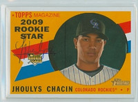 Jhoulys Chacin AUTOGRAPH 2009 Topps Heritage 1960 Topps Design Rockies 