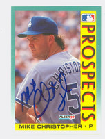Mike Christopher AUTOGRAPH 1992 Fleer Dodgers 