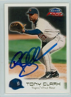 Tony Clark AUTOGRAPH 2000 Fleer Focus Tigers 
