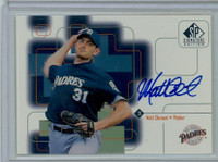 Matt Clement AUTOGRAPH 1999 Upper Deck SP Signature Padres CERTIFIED 