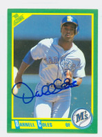 Darnell Coles AUTOGRAPH 1990 Score Mariners 