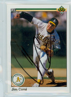 Jim Corsi AUTOGRAPH 1990 Upper Deck Athletics 