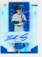 Bubba Crosby AUTOGRAPH 2004 Leaf Materials BLUE Yankees CERTIFIED 