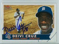 Deivi Cruz AUTOGRAPH 2001 Fleer Tradition Tigers 
