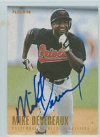 Mike Devereaux AUTOGRAPH 1996 Fleer Orioles 
