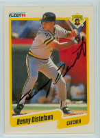 Benny Distefano AUTOGRAPH 1990 Fleer Pirates 