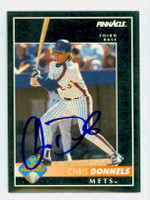 Chris Donnels AUTOGRAPH 1992 Pinnacle Mets 