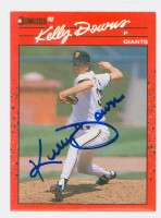 Kelly Downs AUTOGRAPH 1990 Donruss Giants 