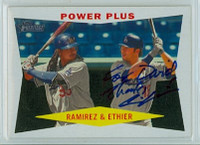 Andre Ethier AUTOGRAPH 2009 Topps Heritage POWER PLUS 1960 Topps Design Dodgers 