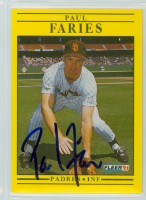 Paul Faries AUTOGRAPH 1991 Fleer Padres 