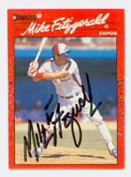 Mike Fitzgerald AUTOGRAPH 1990 Donruss Expos 